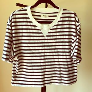 Madewell boxy cropped striped tee